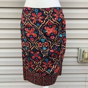 Jones New York Collection Printed Faux Wrap Skirt